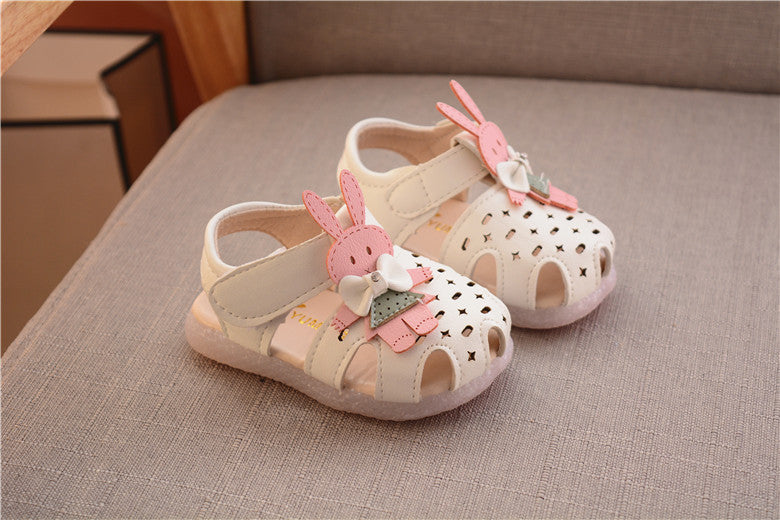 1 to 3 year old baby girls sandals cartoon princess shoes