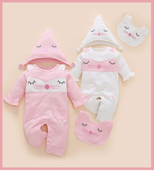 Spring and Autumn Baby Siamese Clothes