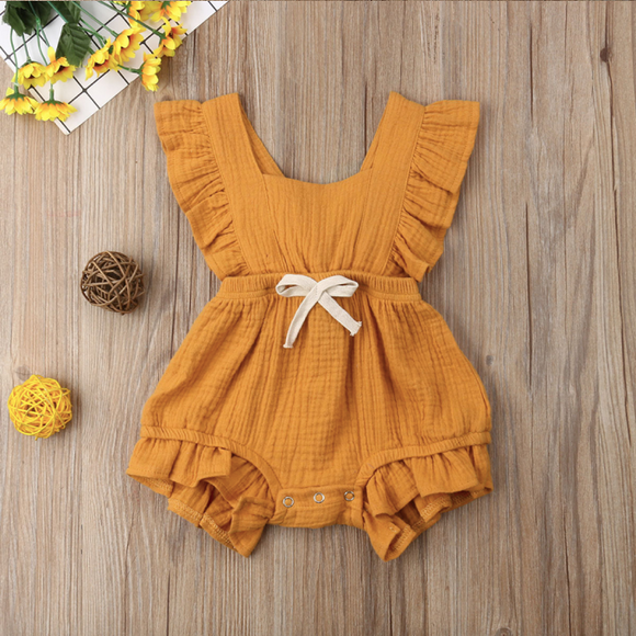 Baby Girl Ruffle  Romper Jumpsuit