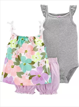 Load image into Gallery viewer, 3-Piece Floral Little Short Set