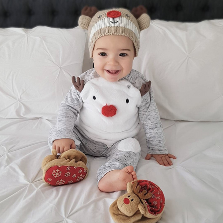 Baby cotton long sleeve elk suit