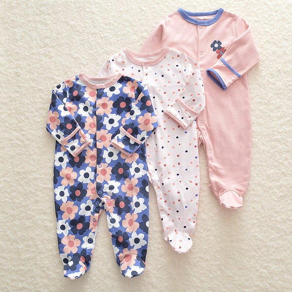 3-pack Long Sleeve Baby Bodysuits