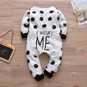 Dotted Letter Print trendy baby boy clothes