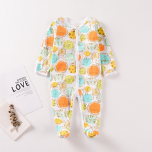 Load image into Gallery viewer, Footed Design Cute Tiger denim jumpsuit baby