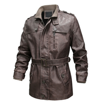 Load image into Gallery viewer, Winter New Men Leather Jackets