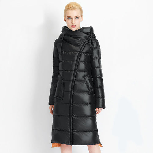 Women's hooded warm coat