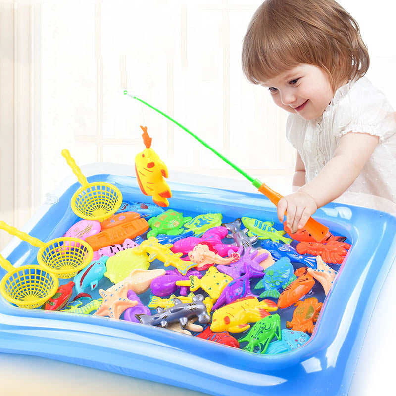 Children Boy girl fishing toy
