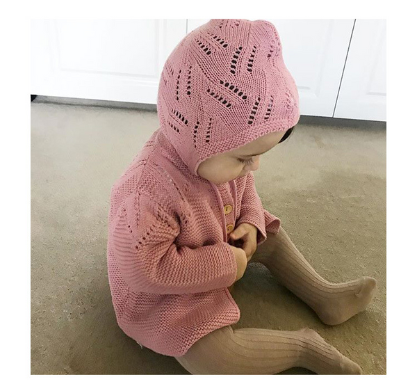 Baby sweater hat two-piece suit knit cardigan coat