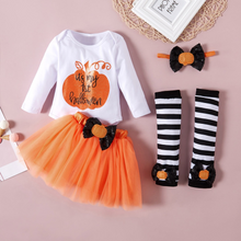 Load image into Gallery viewer, 4-piece Baby IT'S MY 1ST HALLOWEEN Romper