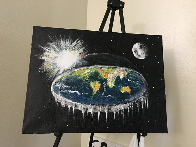 Timelapse Painting, Flat Earth, Art, Live Painting (commissions available)