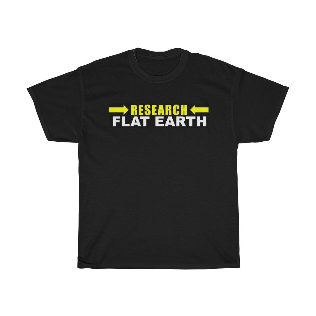 RESEARCH FLAT EARTH, Unisex Heavy Cotton Tee