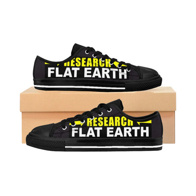 RESEARCH FLAT EARTH, Flat Earth Network, Men's Sneakers