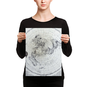 Flat Earth Maps on CANVAS