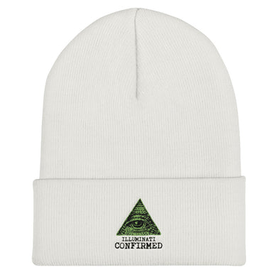 ILLUMINATI CONFIRMED, CUFFED BEANIE