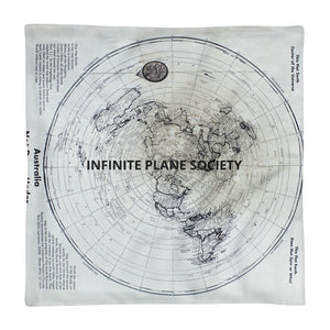 FLAT EARTH MAP PILLOW CASE, IPS Premium Pillow Case only