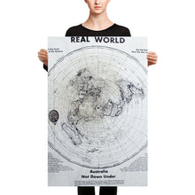 Load image into Gallery viewer, Flat Earth Maps on CANVAS