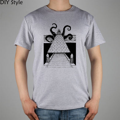 illuminati pyramid eye T-shirt Top Lycra Cotton Men T shirt New Design High Quality Digital Inkjet Printing