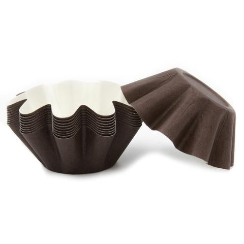 Brown Brioche/Floret Baking Cups - 100 count