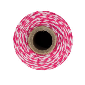 Hot Pink & White Bakers Twine