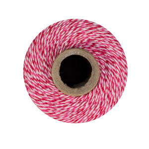 Peppermint Twine - Red, Pink & White Bakers Twine