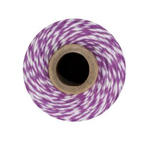 Purple & White Bakers Twine
