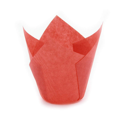 Small Red Tulip Baking Cups - 150 count (SHORT size)
