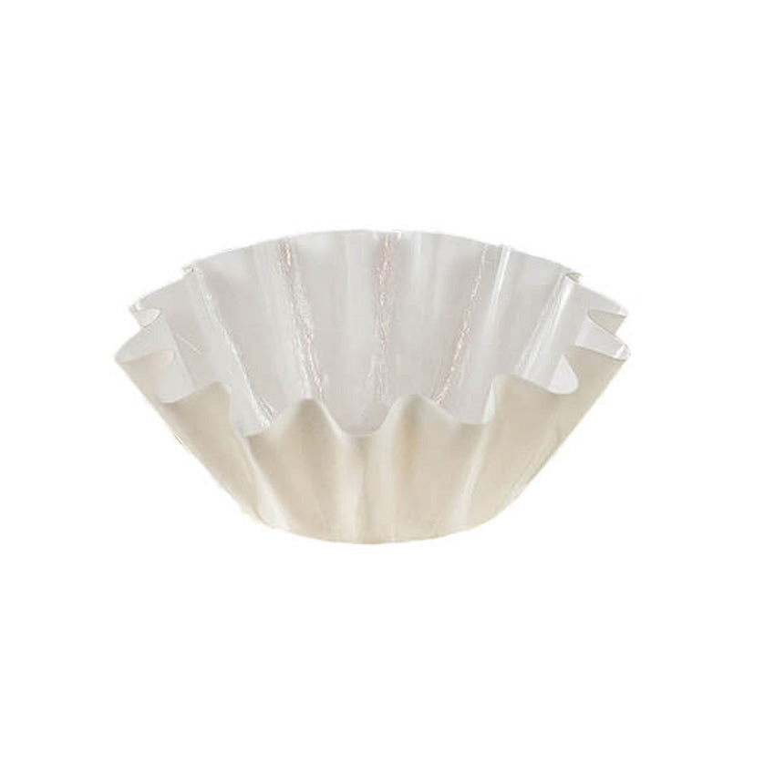 White Brioche/Floret Baking Cups - 100 count