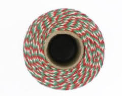 Christmas Twine - Red, Green & White Bakers Twine