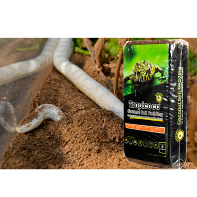 Reptile / Amphibian Coconut Soil Brick by Galapagos (8 Qt.)