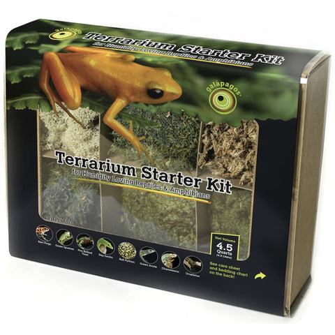 Reptile Terrarium Starter Accessory Kit for Humid Habitats by Galapagos (4.5 Qts.)