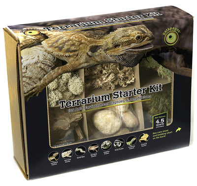 Reptile Terrarium Starter Accessory Kit for Arid Habitats by Galapagos (4.5 Qts.)