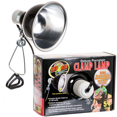 Zoo Med Deluxe 5-1/2 Inch Diameter Clamp Lamp