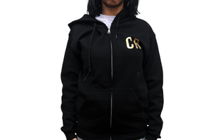 Winter Collection - Black Zip-Up Hoodie