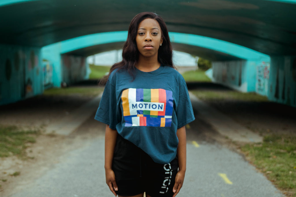 Motion Colorful TV - Blue Short Sleeve