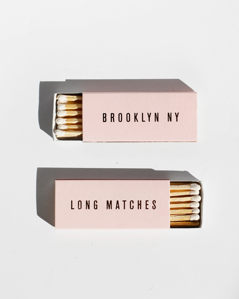 Pink/Gold Brooklyn Matches 12-Pack
