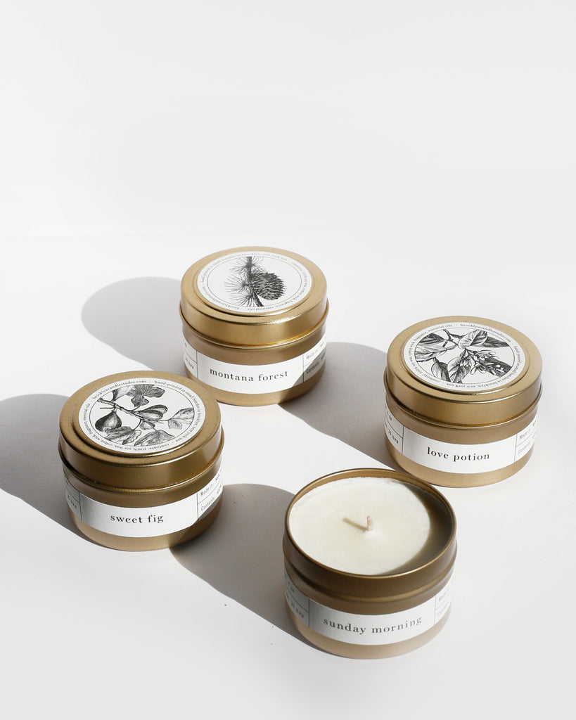 Gold Travel Candle 10-Pack