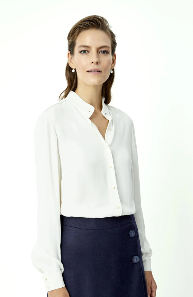 White Buttoned Blouse