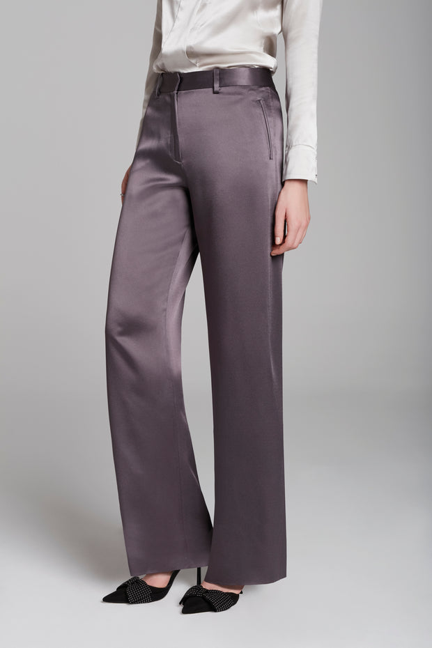 Straight Aubergine Trousers