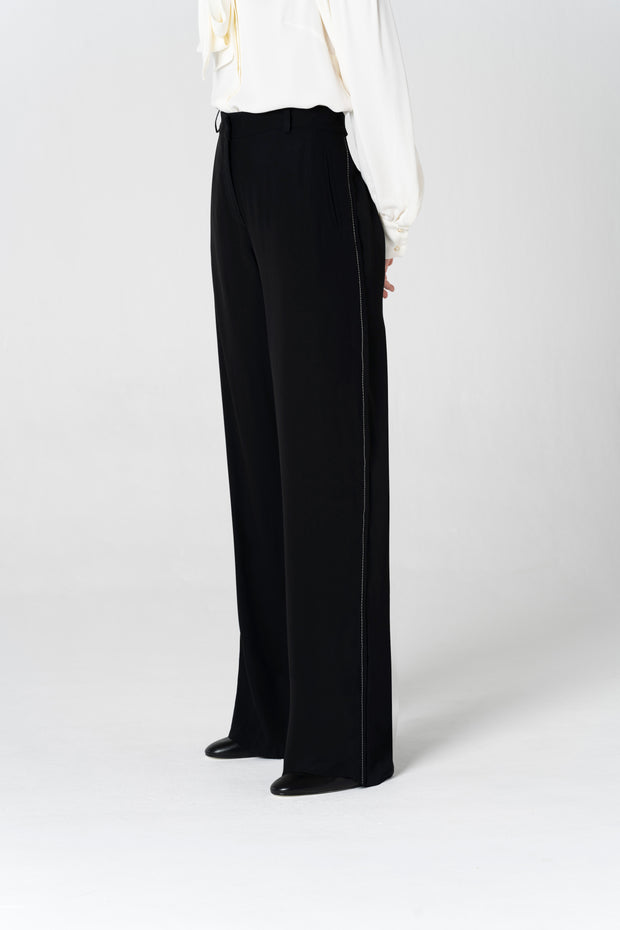 Straight Black Trousers