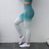 Autumn Ombre Fitness Leggings