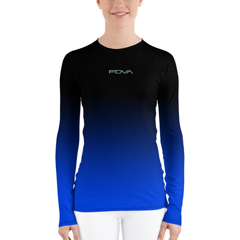 Women-MMA-BJJ-belt-ranked-rashguard-blue