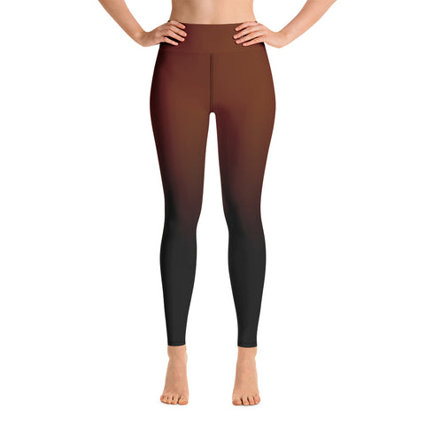 Women-MMA-BJJ-belt-ranked-leggings-brown
