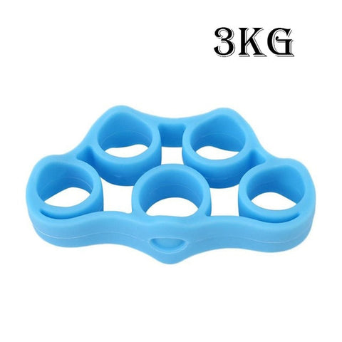 Silicone Finger Gripper Strength Trainer Resistance Band Hand Grip Wrist Yoga Stretcher Finger trainer Exercise free shipping