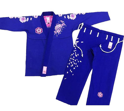 Cherry-Blossom-Women-BJJ-Gi-blue