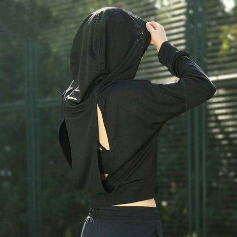 Women-Athletic-Mesh-Jersey-Hoodie-black