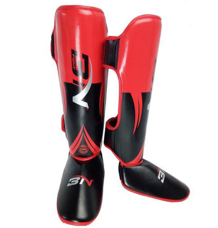 Red-PU-Leather-Shin-Guard-MMA