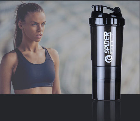 workout-woman-and-black-protein-shaker