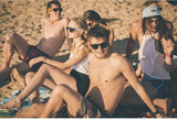 friends-sit-on-the-beach-with-sunglasses