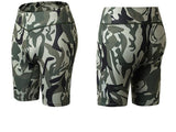 Elastic-biker-Sports-Short-green-camouflage