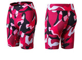 Elastic-biker-Sports-Short-red-camouflage